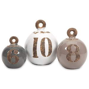 IMAX Worldwide Home Decorative Figurines Hotham Decorative Fishing Weights - Set of 3
