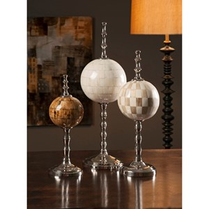 IMAX Worldwide Home Decorative Figurines Randolph Bone Finials - Set of 3