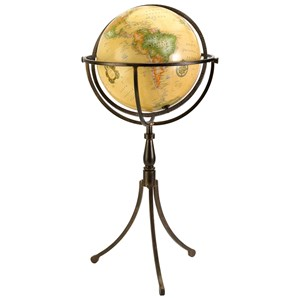 IMAX Worldwide Home Decorative Figurines Vaughn Globe on Iron Stand