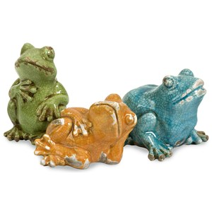 IMAX Worldwide Home Decorative Figurines Garza Casual Frogs - Set of 3