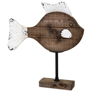 IMAX Worldwide Home Decorative Figurines Gabor Wood Fish