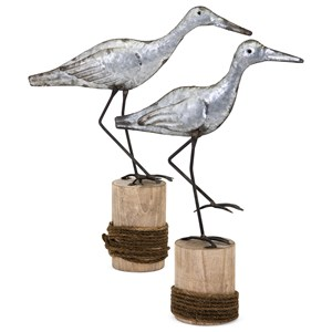 IMAX Worldwide Home Decorative Figurines Skylar Coastal Birds - Set of 2