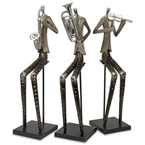 IMAX Worldwide Home Decorative Figurines Sinatra Jazz Band Figures - Set of 3
