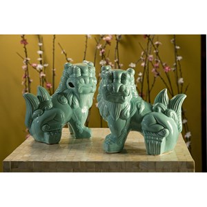 IMAX Worldwide Home Decorative Figurines Choo Foo Dogs - Set of 2