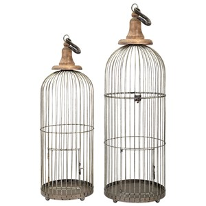 IMAX Worldwide Home Decorative Figurines Lenore Bird Cages - Set of 2
