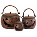 IMAX Worldwide Home Decorative Figurines Lidded Pumpkins - Set of 3 - Item Number: 4628-3