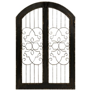 IMAX Worldwide Home Decorative Figurines Amelia Iron and Wood Gate
