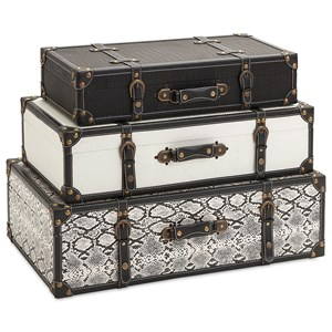 IMAX Worldwide Home Decorative Figurines Aberdeen Storage Trunks - Set of 3
