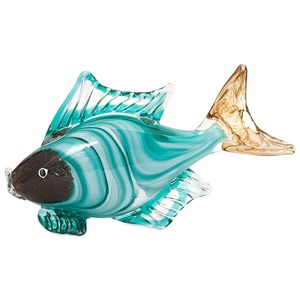 IMAX Worldwide Home Decorative Figurines Croix Glass Fish Statuary