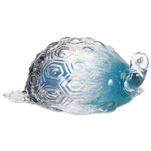 IMAX Worldwide Home Decorative Figurines Largo Glass Turtle
