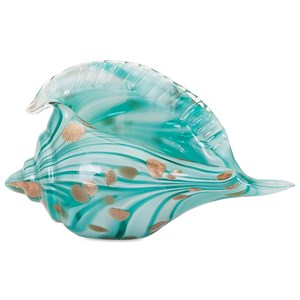 IMAX Worldwide Home Decorative Figurines Kingston Glass Shell