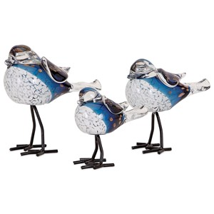 IMAX Worldwide Home Decorative Figurines Chirp Bird Statuaries - Set of 3