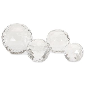 IMAX Worldwide Home Decorative Figurines Cut Crystal Spheres - Set of 4