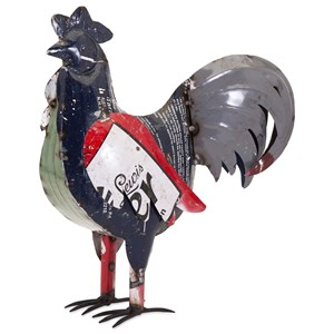 IMAX Worldwide Home Decorative Figurines Ryan the Rooster - Reclaimed Metal