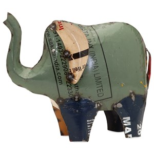 IMAX Worldwide Home Decorative Figurines Eli the Elephant - Reclaimed Metal