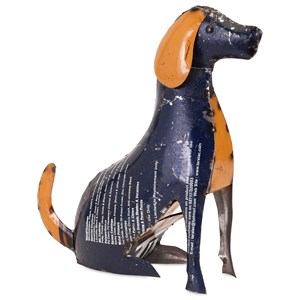 IMAX Worldwide Home Decorative Figurines Pedro the Pup - Reclaimed Metal