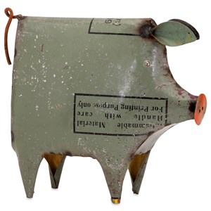 IMAX Worldwide Home Decorative Figurines Precious the Pig - Reclaimed Metal