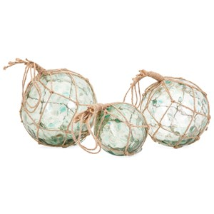 IMAX Worldwide Home Decorative Figurines Recycled Glass Floats - Set of 3