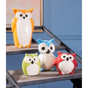 IMAX Worldwide Home Decorative Figurines Enchanted Owls - Set of 4