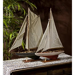 IMAX Worldwide Home Decorative Figurines Antiqued Sailing Vessels - Set of 2