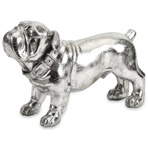 IMAX Worldwide Home Decorative Figurines Maximus Stick Silver Dog Statue