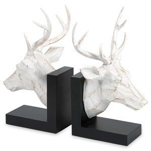 IMAX Worldwide Home Decorative Figurines Joseph Deer Bookends - Set of 2