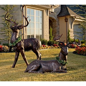 IMAX Worldwide Home Decorative Figurines Standing Reindeer