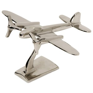 IMAX Worldwide Home Decorative Figurines Up in the Air Plane Statuary