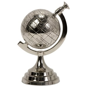 IMAX Worldwide Home Decorative Figurines Celio Aluminum Globe