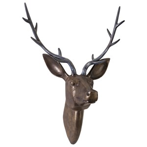 IMAX Worldwide Home Decorative Figurines Goodwin Aluminum Deer Head