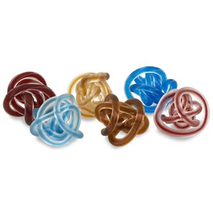 IMAX Worldwide Home Decorative Figurines Glass Rope Knots - Set of 6