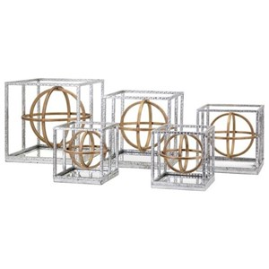 IMAX Worldwide Home Decorative Figurines Arlette Dimensional Mirrors