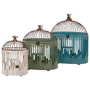 IMAX Worldwide Home Decorative Figurines Lendi Bird Houses - Set of 3