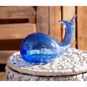 IMAX Worldwide Home Decorative Figurines Andover Glass Whale Statuary