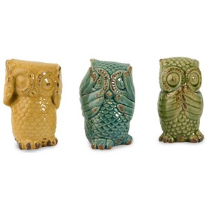 IMAX Worldwide Home Decorative Figurines Wise Owls - Set of 3