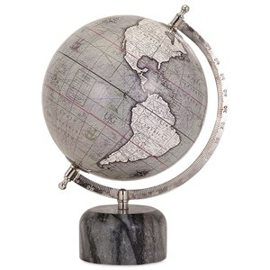 IMAX Worldwide Home Decorative Figurines Rada Globe with Marble Base