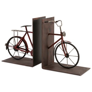 IMAX Worldwide Home Decorative Figurines Renee Bicycle Bookends - Set of 2