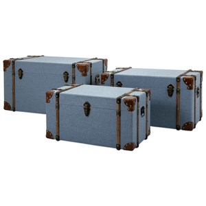 IMAX Worldwide Home Decorative Figurines Fullerton Trunks - Set of 3
