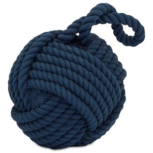 IMAX Worldwide Home Decorative Figurines Hauer Blue Nautical Rope Ball