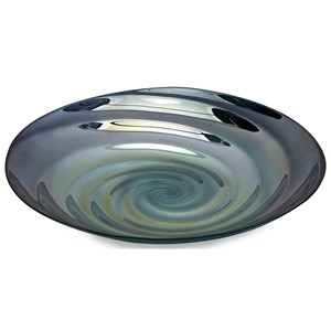 IMAX Worldwide Home Decorative Figurines Moody Swirl Glass Charger