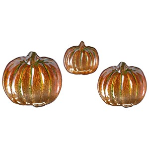 IMAX Worldwide Home Decorative Figurines Jack's Pumpkin Glass Dishes - Set of 3