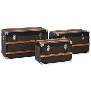 IMAX Worldwide Home Decorative Figurines Schultz Trunks - Set of 3