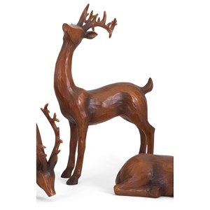 IMAX Worldwide Home Decorative Figurines Reindeer- Natural-Right