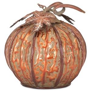 IMAX Worldwide Home Decorative Figurines Easton Extra Small Copper Finish Pumpkin