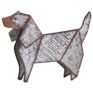 IMAX Worldwide Home Decorative Figurines Dickens Galvanized Dog