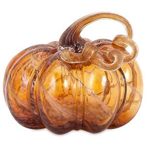 Gilded Small Glass Pumpkin