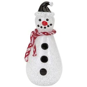 Frosty Medium Glass Snowman