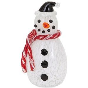 Frosty Small Glass Snowman