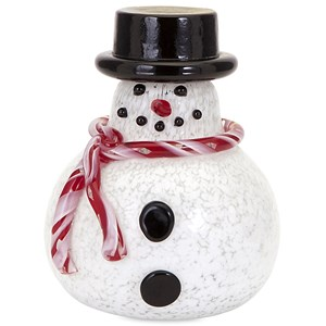 Sammy Small Glass Snowman