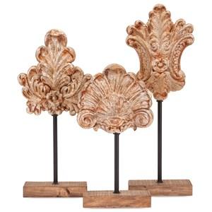 Angelil Floral Sculptures on Stands - Set of